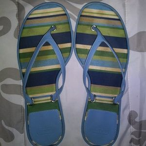 Coach Blue Thong Sandals Size 6